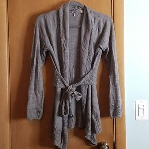Anthropologie Knitted & Knotted  Wrap Cardigan M